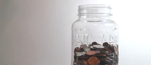 Photo of a jar of coins