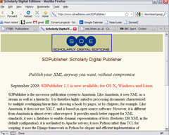 Screenshot of SDPublisher software