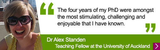 Quote from Languages alumna Alex Standen