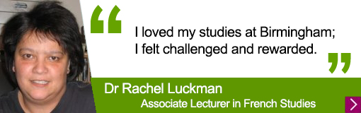 Quote from Languages alumna Rachel Luckman