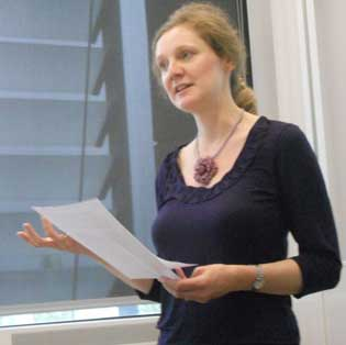 Angela Kershaw at the Translation Studies workshop in 2013