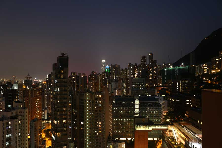 Pictures of Hong Kong at night