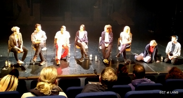 Cast discussion after performance