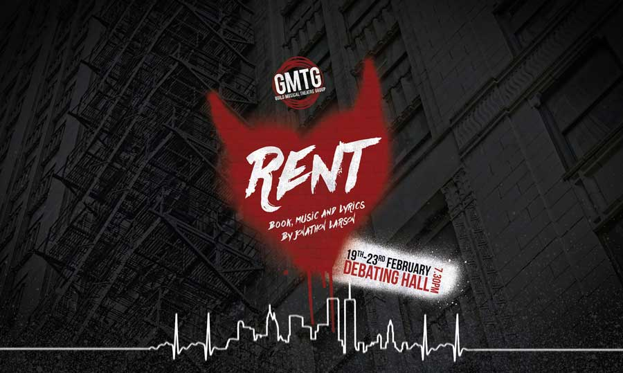 Poster for Guild Theatre production of Rent