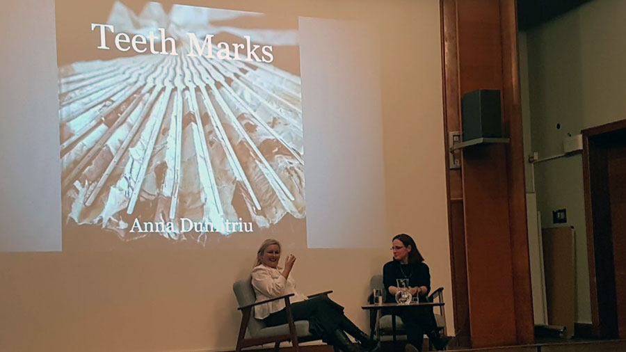 Anna Dumitriu in conversation with Dr Melissa Grant about her  art that combines biological techniques with sculpture