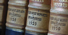 Law news - photo of law reports in the Law Library