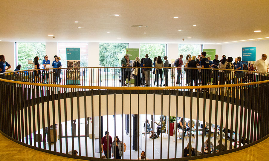 The upper floor of the Bramall building on the University's Open Day 2017