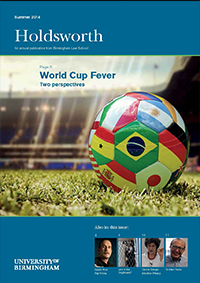 Picture of football covered in flags for Holdsworth 2014: World Cup Fever in the latest edition of our alumni newsletter