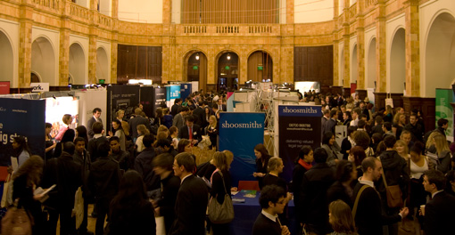 Photograph of Law Careers Fair in the Great Hall, November 2010