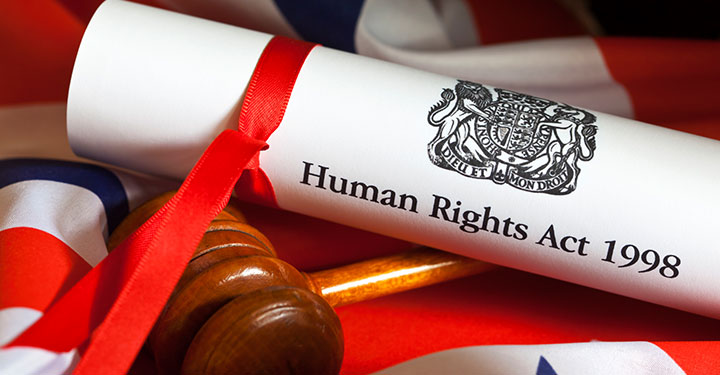 Photo of the Human Rights Act and the Union Flag
