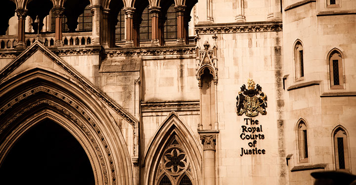 Photo of the Royal Courts of Justice, London