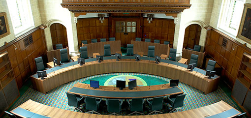 Photograph of Court 1 at the UK Supreme Court