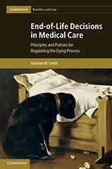 Photo of the cover of Dr Stephen Smith - End-of-life decisions in medical care