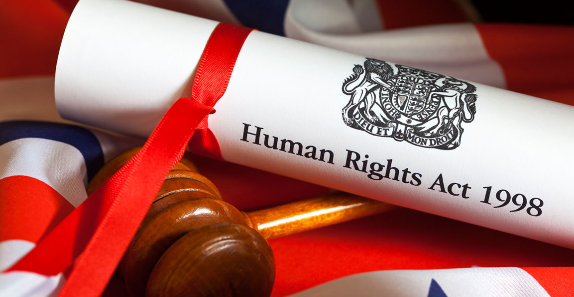 Photo of the Human Rights Act and a gavel