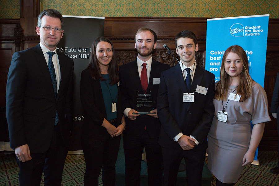 Attorney General Jeremy Wright with University of Birmingham Law School representatives