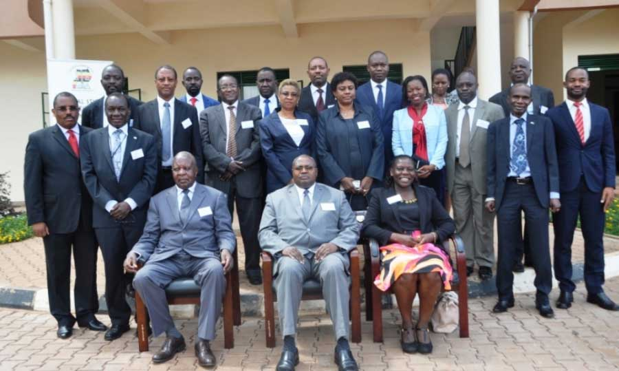 Members of the Sentencing Guidelines Committee, Judges and staff of the Judicial Training Institute. Photo courtesy of Judicial Training Institute Kampala 4th Aug 2017