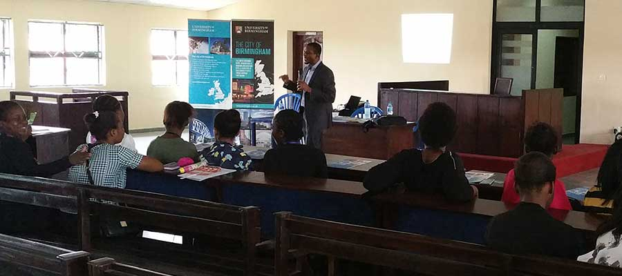 Dr Hakeem Yusuf giving a lecture at Babcock University, Nigeria