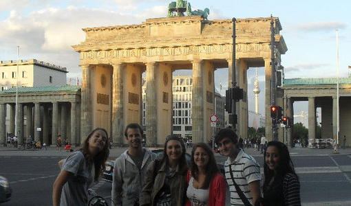 Photo of Jospeh Kamyar and Law German students in Berlin