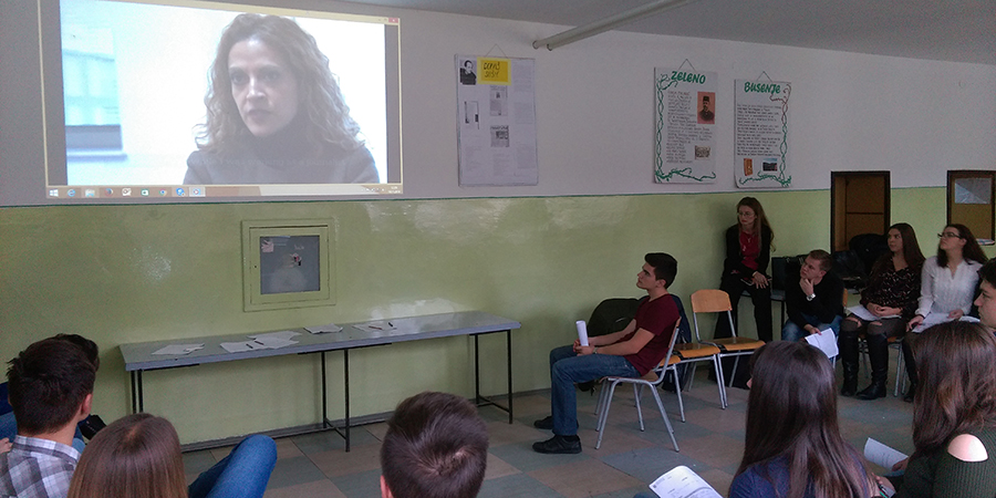 Video being played to young people in Bosnia-Herzegovina