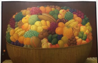 Painting of a bowl of fruit