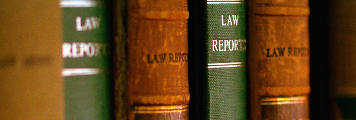 Picture of books in the Harding Law Library