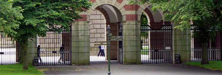 Picture of the arches at Birmingham Law School