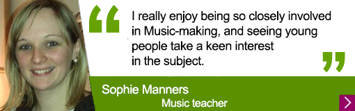 Quote from music alumna Sophie Manners