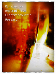 Abstract image promoting the Birmingham Ensemble for Electroacoustic Research