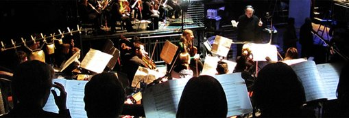 Photograph of an orchestra in performance