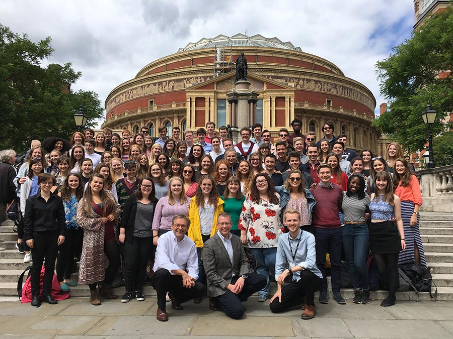 UoB Voices at the Royal Albert Hall for the BBC Proms