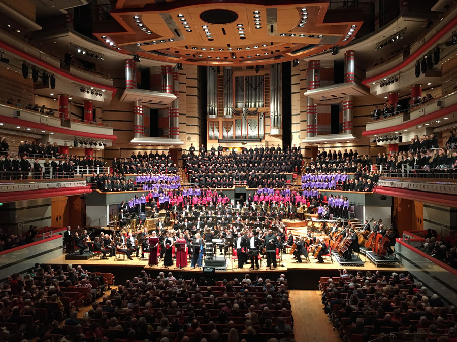 University of Birmingham Voices performing Mahler at Symphony Hall in Birmingham, January 2020