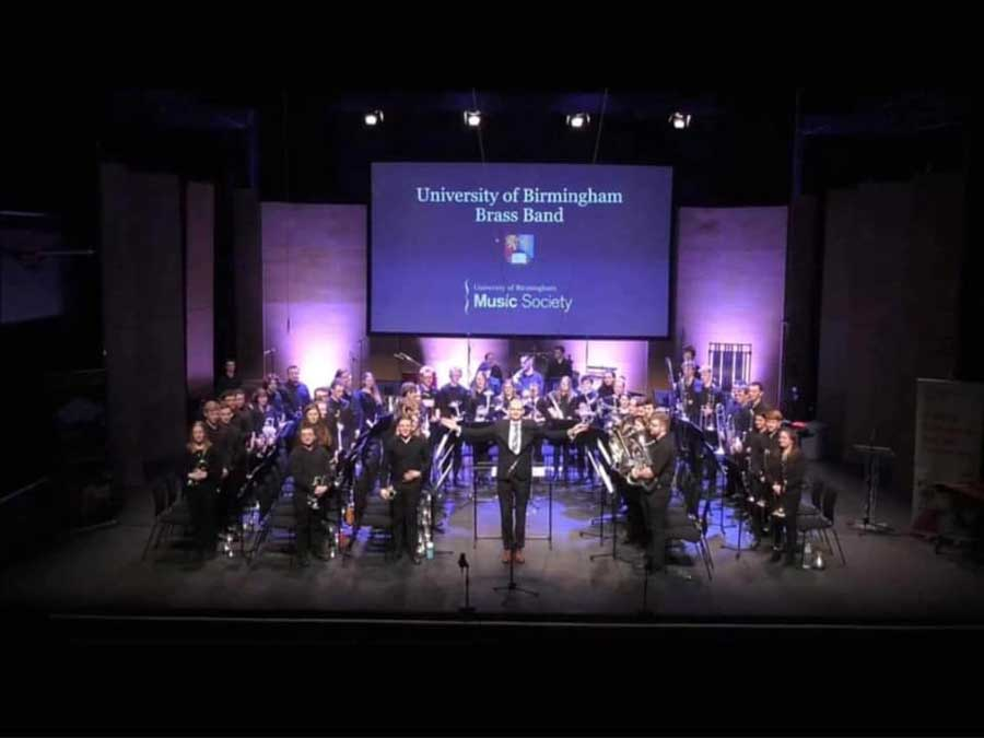Photograph of the full UoB band