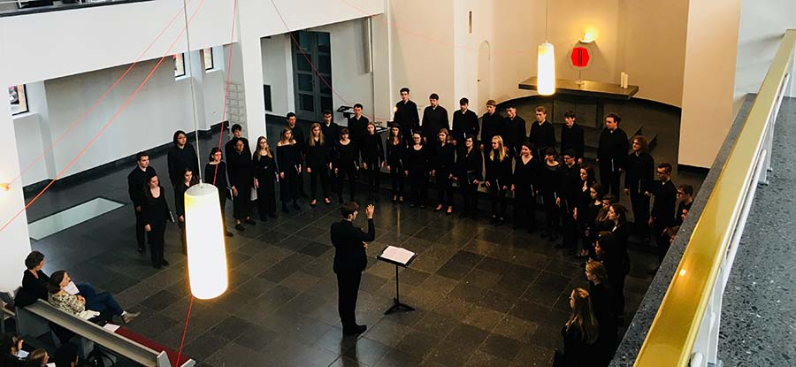 Birmingham University Singers in performance on tour at St. Matthäus-Kirche, Berlin