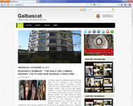 Screenshot of the Galbascat blog