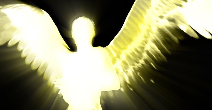 Image of an angel with outstretched wings