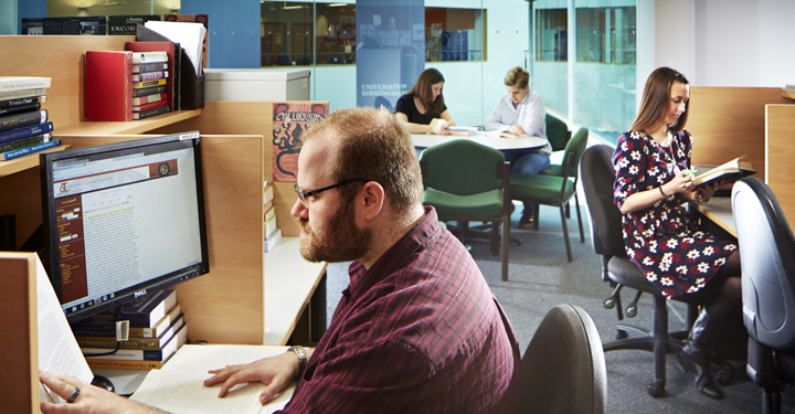 Postgraduates working in the ERI building