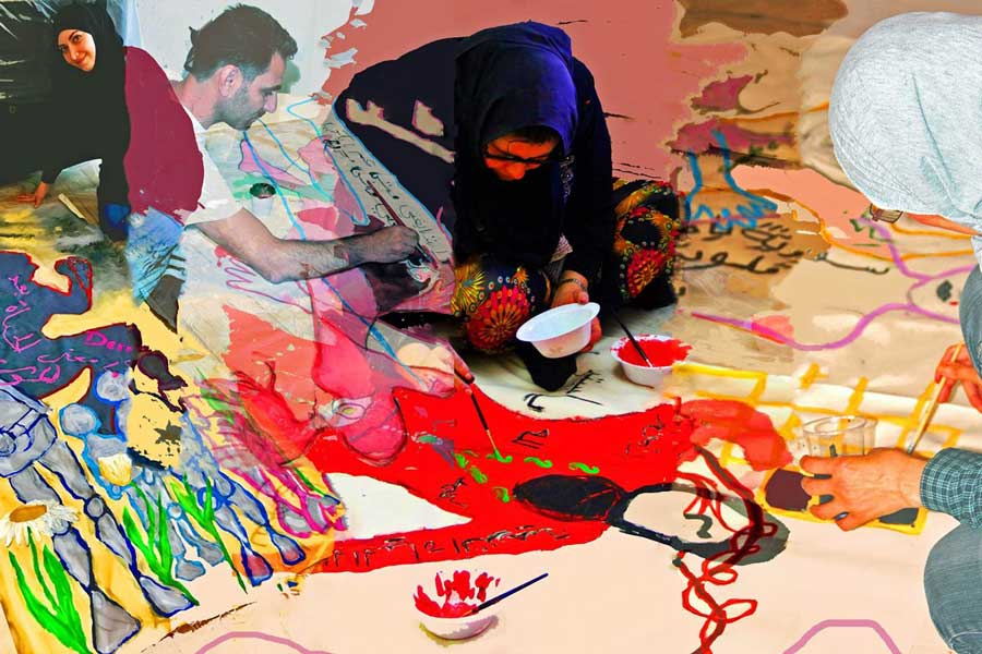 "Image of women Islamic artists for ""Theology @ Stowe Women Islam and Art"""