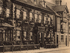 Sepia photograph of the front of Mason Croft