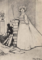 Drawing of Mavis Clare, the heroine of 'In The Sorrows of Satan'