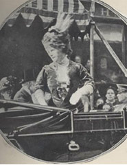 Photograph of Marie Corelli in an open carriage