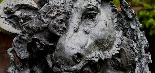 Photograph of a sculpture of Midsummer Night's Dream
