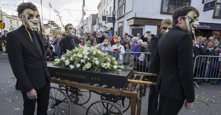 400th anniversary of the death of William Shakespeare celebrations in Stratford upon Avon.