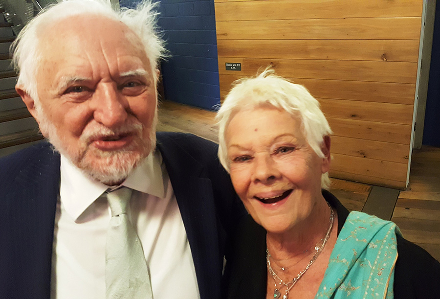 Stanley Wells and Judi Dench