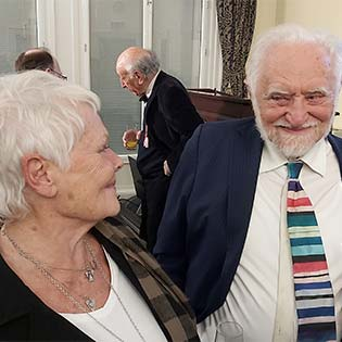 Judi Dench and Stanley Wells March-315