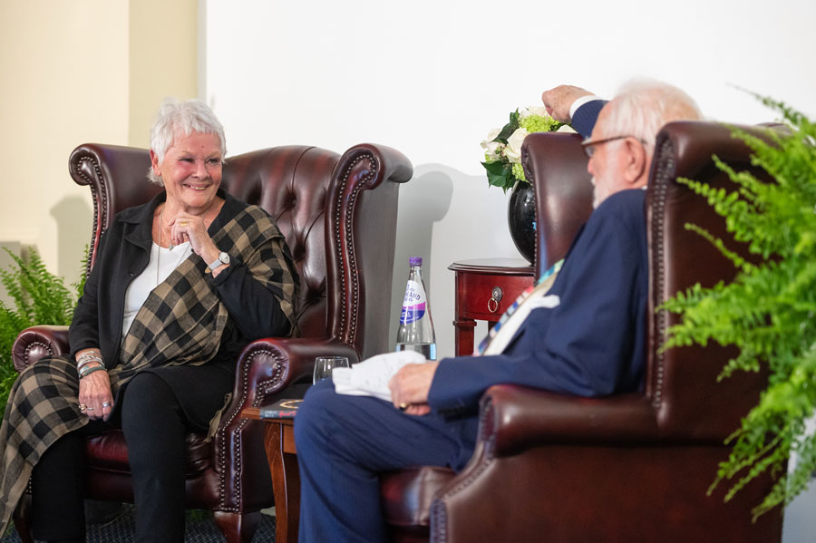 Dame Judi Dench and Professor Sir Stanley Wells OBE speak at a panel event
