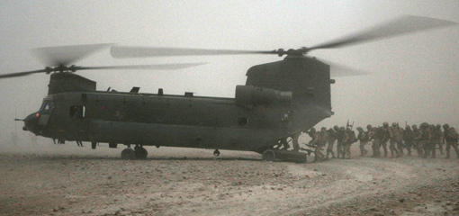 Photograph of a Chinook helicopter
