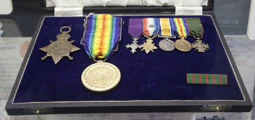 First World War medals donated by Sir Dominic Cadbury