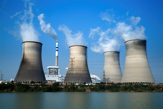 Cooling towers of atmomic power plant