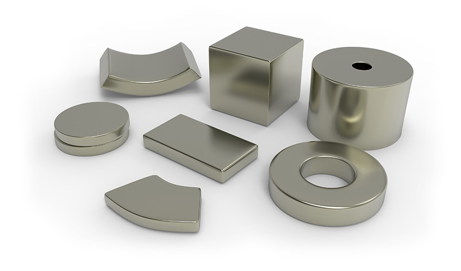 Selection of neodymium magnets