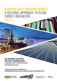 Thumbnail view of Powering West Midlands Growth report front cover